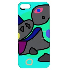 Blue comic abstract Apple iPhone 5 Hardshell Case with Stand