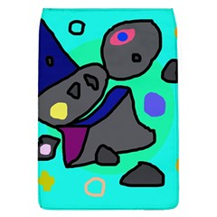 Blue comic abstract Flap Covers (L)