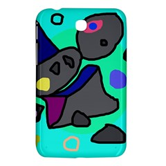 Blue comic abstract Samsung Galaxy Tab 3 (7 ) P3200 Hardshell Case