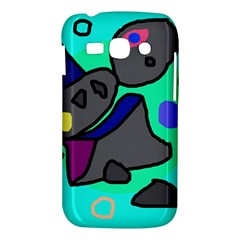 Blue comic abstract Samsung Galaxy Ace 3 S7272 Hardshell Case