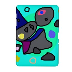 Blue comic abstract Samsung Galaxy Tab 2 (10.1 ) P5100 Hardshell Case
