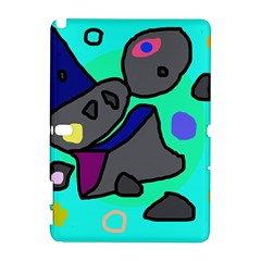 Blue comic abstract Samsung Galaxy Note 10.1 (P600) Hardshell Case