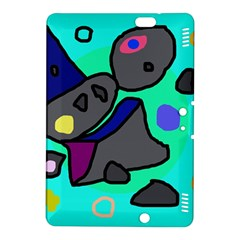Blue comic abstract Kindle Fire HDX 8.9  Hardshell Case