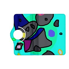 Blue comic abstract Kindle Fire HD (2013) Flip 360 Case