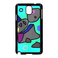 Blue comic abstract Samsung Galaxy Note 3 Neo Hardshell Case (Black)