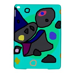 Blue comic abstract iPad Air 2 Hardshell Cases