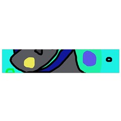 Blue comic abstract Flano Scarf (Small)