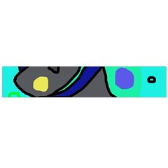 Blue comic abstract Flano Scarf (Large)