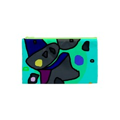 Blue comic abstract Cosmetic Bag (XS)