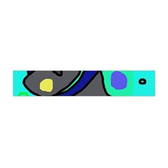 Blue Comic Abstract Flano Scarf (mini)