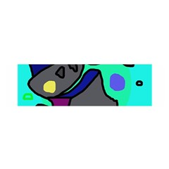 Blue comic abstract Satin Scarf (Oblong)
