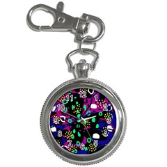 Abstract colorful chaos Key Chain Watches