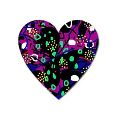 Abstract colorful chaos Heart Magnet