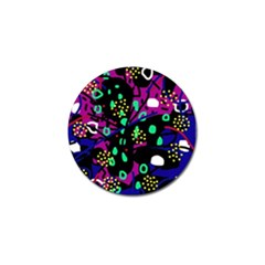Abstract colorful chaos Golf Ball Marker (4 pack)