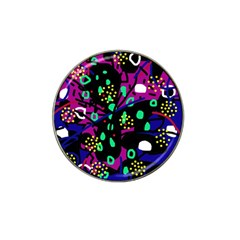 Abstract colorful chaos Hat Clip Ball Marker