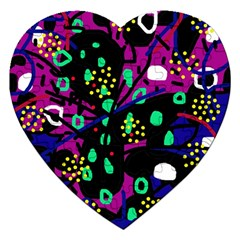 Abstract colorful chaos Jigsaw Puzzle (Heart)