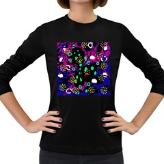 Abstract colorful chaos Women s Long Sleeve Dark T-Shirts