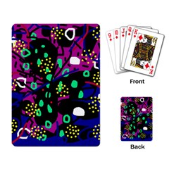Abstract colorful chaos Playing Card