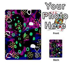 Abstract colorful chaos Playing Cards 54 Designs