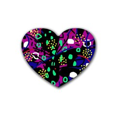 Abstract colorful chaos Heart Coaster (4 pack)