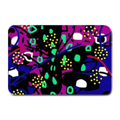 Abstract colorful chaos Plate Mats