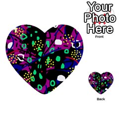 Abstract colorful chaos Multi-purpose Cards (Heart)