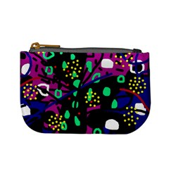 Abstract colorful chaos Mini Coin Purses