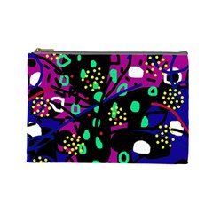 Abstract colorful chaos Cosmetic Bag (Large)