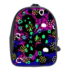 Abstract colorful chaos School Bags(Large)
