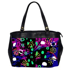 Abstract Colorful Chaos Office Handbags (2 Sides)