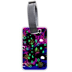 Abstract colorful chaos Luggage Tags (One Side)