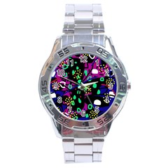 Abstract colorful chaos Stainless Steel Analogue Watch