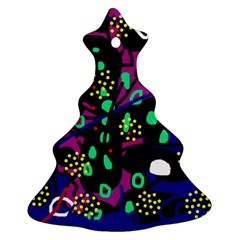 Abstract colorful chaos Christmas Tree Ornament (2 Sides)