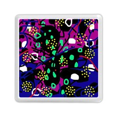 Abstract colorful chaos Memory Card Reader (Square)