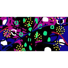 Abstract colorful chaos YOU ARE INVITED 3D Greeting Card (8x4)