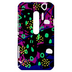 Abstract colorful chaos HTC Evo 3D Hardshell Case