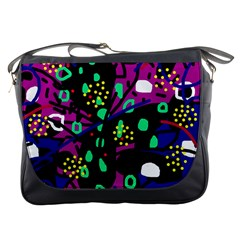 Abstract colorful chaos Messenger Bags