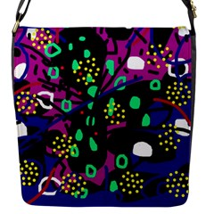Abstract colorful chaos Flap Messenger Bag (S)