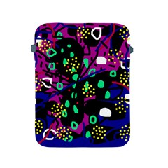 Abstract colorful chaos Apple iPad 2/3/4 Protective Soft Cases