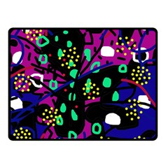 Abstract colorful chaos Double Sided Fleece Blanket (Small)