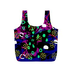 Abstract colorful chaos Full Print Recycle Bags (S)
