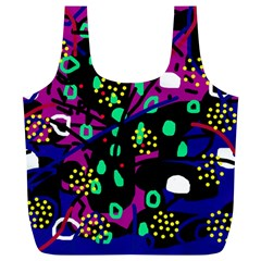 Abstract colorful chaos Full Print Recycle Bags (L)
