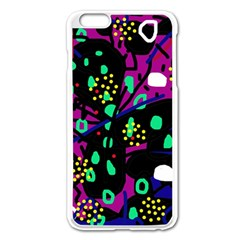 Abstract colorful chaos Apple iPhone 6 Plus/6S Plus Enamel White Case