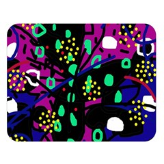 Abstract colorful chaos Double Sided Flano Blanket (Large)
