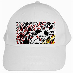 Colorful chaos by Moma White Cap