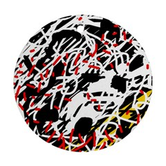 Colorful chaos by Moma Ornament (Round)