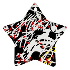 Colorful chaos by Moma Ornament (Star)