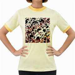 Colorful chaos by Moma Women s Fitted Ringer T-Shirts