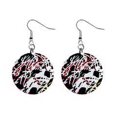 Colorful chaos by Moma Mini Button Earrings