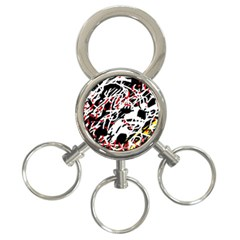 Colorful chaos by Moma 3-Ring Key Chains